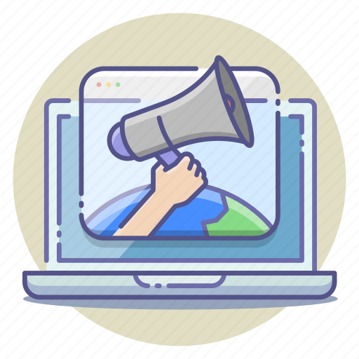 adversiting, announcing, campaign, global, launch, marketing, release icon
