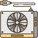 case, fan, laptop, notebook, stand icon