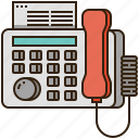 fax, office, print, printer, telephone icon