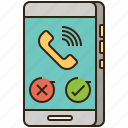 call, cellphone, communication, smartphone, telephone icon