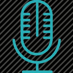 audio, mic, mike, record, sound, speak, voice icon