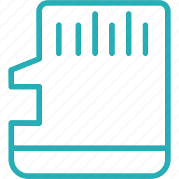 card, chip, circuit, memory, microchip, stick, storage icon