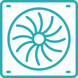 computer, device, fan, hardware, laptop, monitor icon
