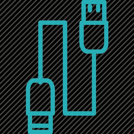 cable, computer, data, storage, usb icon