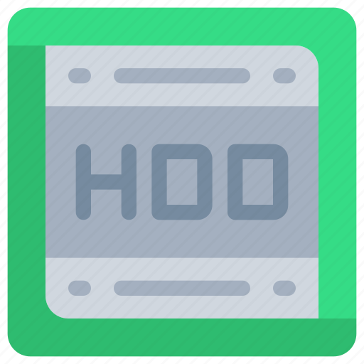computer, disk, drive, hdd, storage icon