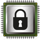 antivirus, chip, data, information, padlock, processor, security icon