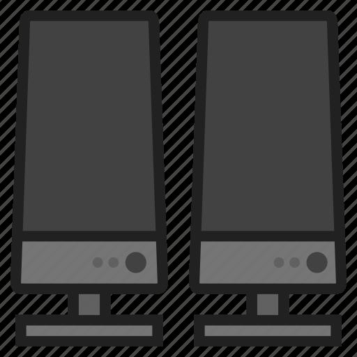 audio, computer, hardware, listen, peripheral, sound, speakers icon
