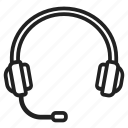 computer, headphones, headset, microphone, music, peripheral, support icon
