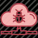 cloud, computing, bug, internet, virus