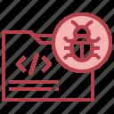 folder, malware, coding, virus, bug
