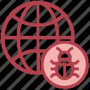 world, internet, bug, virus