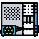 case, computer, data, information, port, protection icon