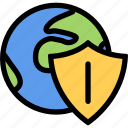 computer, data, information, network, port, protection icon
