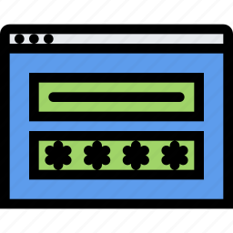 computer, data, information, password, port, protected, protection icon