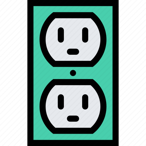 computer, data, information, port, power, protection, socket icon
