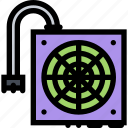 computer, data, information, port, power, protection, supply icon