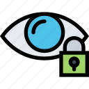 computer, data, information, port, protection, retinal, scan icon