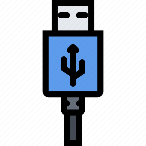 computer, data, information, port, protection, usb icon