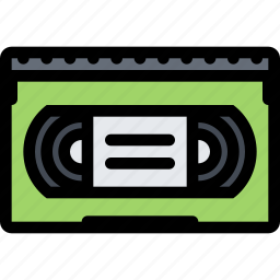 computer, data, information, port, protection, videocassette icon