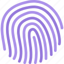 computer, data, fingerprint, information, protection, technology icon