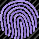 information, computer, technology, protection, fingerprint, data icon