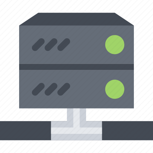 computer, data, information, protection, server, technology icon