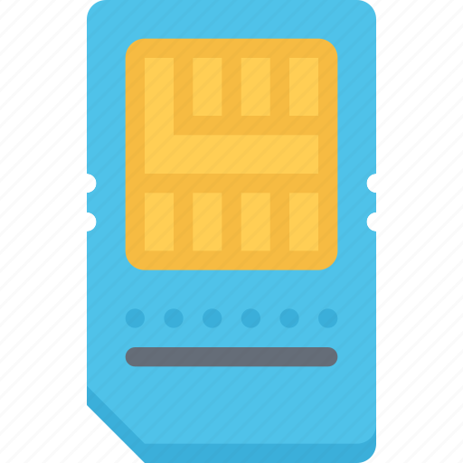 card, computer, data, information, protection, sim, technology icon