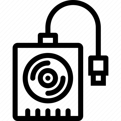 computer, data, disk, external, hard, information, port icon