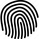 computer, data, fingerprint, information, port, protection icon
