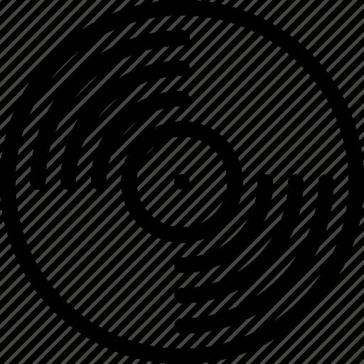 computer, data, information, port, protection, record, vinyl icon