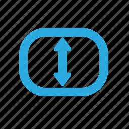 arrow, back, move, position, sleep, sleepmode, standbuy icon