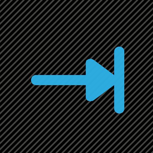 arrow, forward, move, right, tab icon