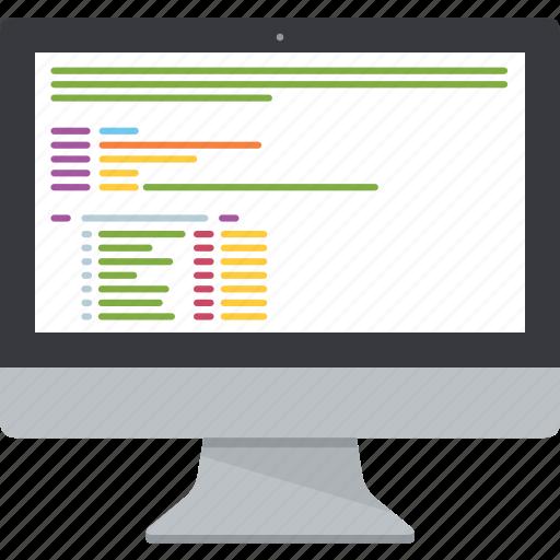 computer, css, display, html, imac, monitor, screen icon
