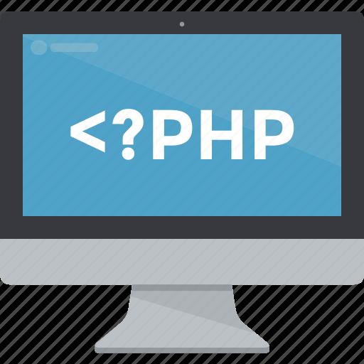 computer, display, imac, monitor, php, programming, screen icon