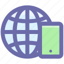 .svg, browser, cell phone, earth, globe, mobile, world icon