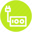 .svg, extension, extension cable, extension cord, extension lead, extension wire, power extension icon