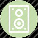 .svg, entertainment, loudspeaker, music, sound, speaker, woofer icon