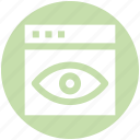 .svg, eye, visualization, web page, web site, web visibility icon