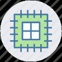 chip, microchip, processor, processor chip, processor cpu icon