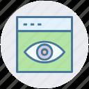 eye, visualization, web page, web site, web visibility icon