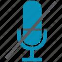 micro, mute, phone, sound, voice icon