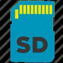 card, memory, sd, sotorage icon