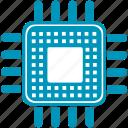 cpu, hardware, memory, microchip, pc, processor icon