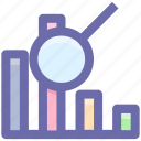 .svg, bar, chart, diagram, pie chart, search graph, searching icon
