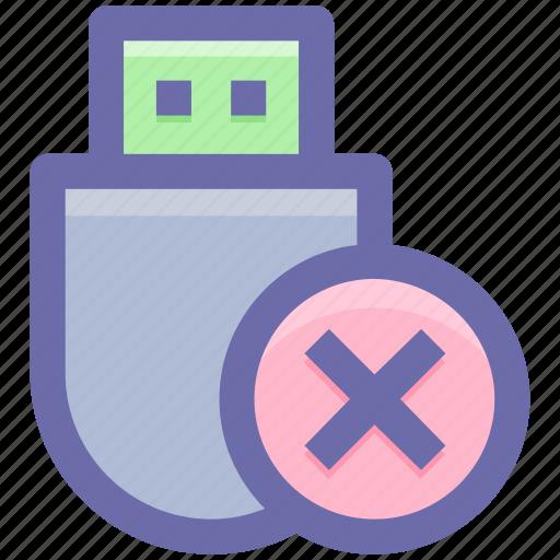 .svg, data saver flash, data stick, delete, flash, flash drive, usb icon