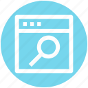 .svg, computer page, find, magnifier, page, searching, web site search icon