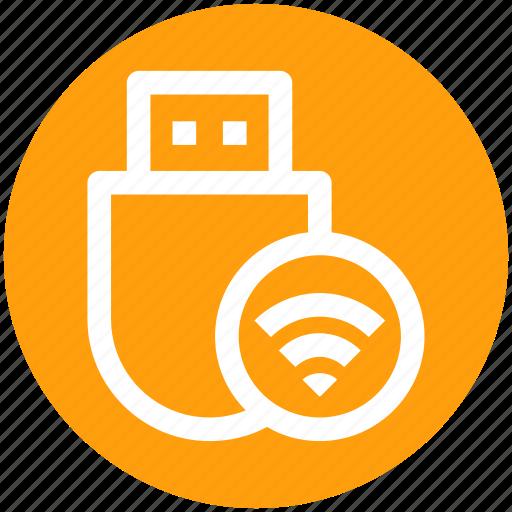 .svg, data saver flash, flash, flash drive, usb, wifi, wireless usb icon