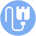.svg, adsl cable, internet connector lead, lead, modem connector, phone connector icon