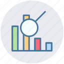 bar, chart, diagram, pie chart, search graph, searching icon