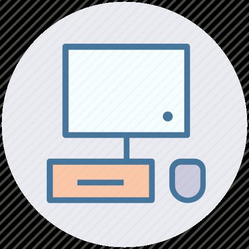 desktop, display, keyboard, lcd, mouse, pc icon